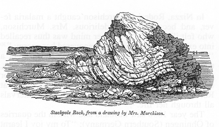 "One of Charlotte Murchison's geological drawings from Roderick Murchison's ""The Silurian System"""