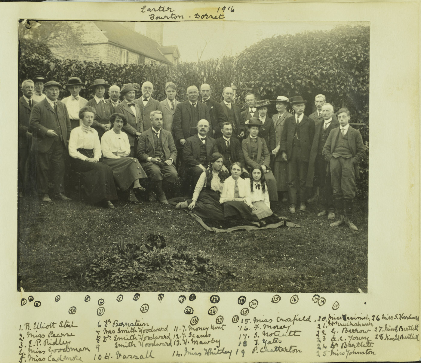 Geologists' Association field trip to Dorset, Easter 1916.